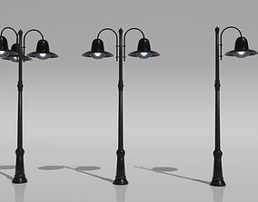 3D model low-poly vr Street Light