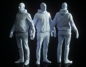 3D asset A-Pose Low Poly Male