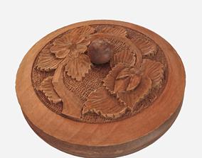 Wooden pot 3D asset