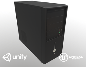 3D asset Game Ready Computer Tower