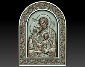 The Holy Family Orthodox Christian Icon 3D model