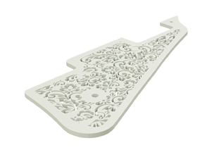 Les Paul Flower pattern custom pickguard for 3d printing