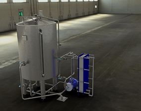 3D model Whirlpool for brewery