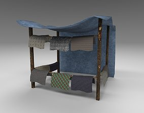 3D asset low-poly Medieval Bazaar 02 - PBR