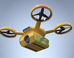 3D Delivery Drone Quadrocopter