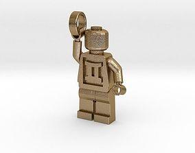 3D print model Lego man puppet pendant holding ring