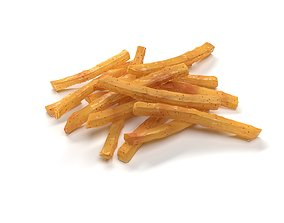 French Potato Fries 3D asset