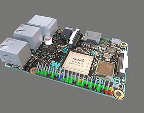 3D asset Asus Tinker Board S Circuit Board