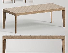 MALTA TEAK DINING TABLE 3D model