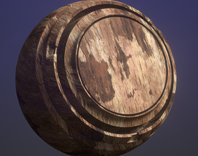 Oak Wood and Bark 3D