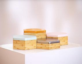 Wooden boxes HG2 3D