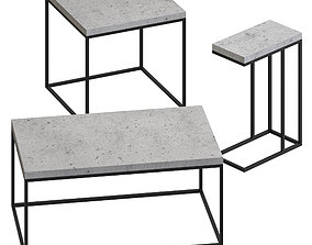 3D model Niles Cement - coffee tables