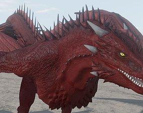 3D model Fire Breathing Wyvern Dragon