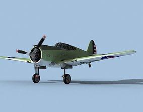 Curtiss P-36C Hawk V06 USAAF 3D