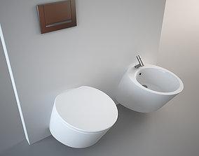 Nic Design Monolite Bidet and Toilet 3D asset