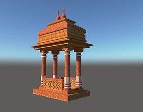 3D model indian chatri