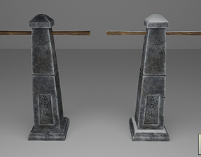3D asset Stylized Runic Pillar