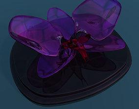 Orchid glass sculpture low poly 3D model
