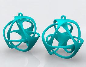 Triloop Earrings 3D printable model