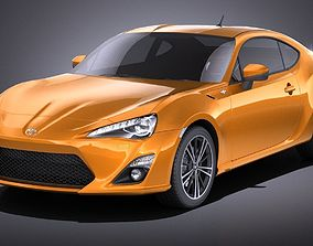 Toyota GT86 2015 VRAY 3D