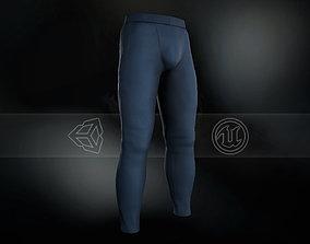 Blue Skinny Medieval Pants 3D asset