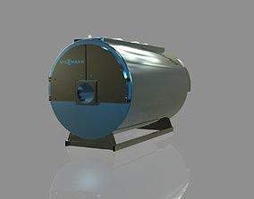 3D High-temperature water boiler Vitomax 200 house