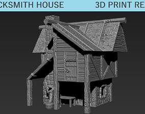 3D printable model Tabletop Black Smith House Modular