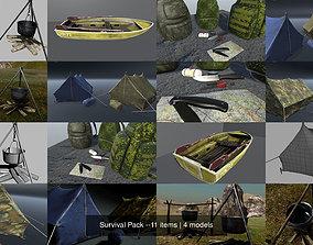 Survival Pack --11 items 3D