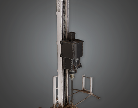 IND - Industrial Mining Drill - PBR Game Ready 3D asset
