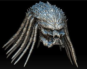 3D Assassin predator head with dreads