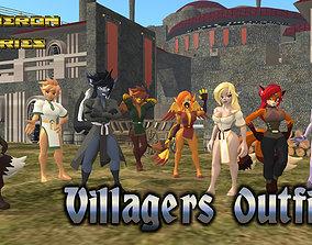 Acheron Villager Outfits 3D model