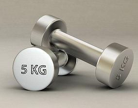 Gym dumbbell 3D