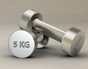Gym dumbbell fitness 3D model PBR