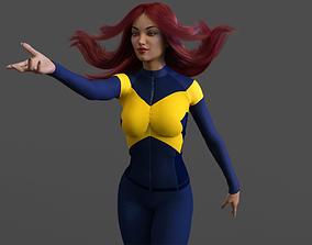 Caucasian X-Woman Naked 3D model