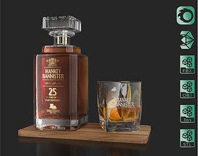 3D Hankey Bannister 25 YO Scotch Premium Whisky Carafe 1