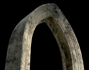 Old Single Stone Arch For The Medieval Door 3D model