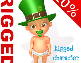 3D model Leprechaun Baby Cartoon Rigged