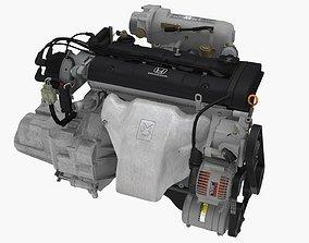3D model Honda Prelude Si H23A1 engine