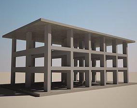 Column Beam structure 3D model