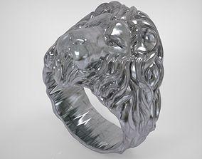 Lion Ring 3D print model