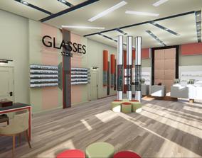 Glasses store - showroom 3D model