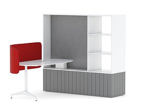 3D Herman Miller Locale Desk and Cabinet