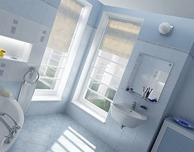 3D Modern Bright Bathroom