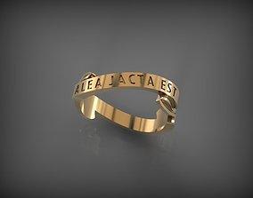 Ring ALEA JACTA EST 3D printable model