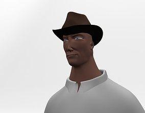 Explorer Cartoon Character 3D model