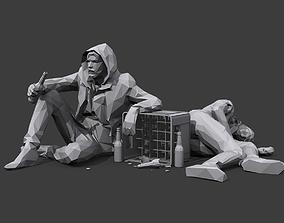 3D model Drunks