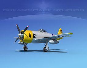 3D model Republic P-47D Thunderbolt V17