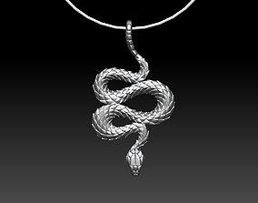 pendant snake eight 3D print model