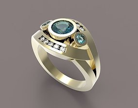 3D print model diamond Ring 54