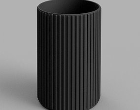 3D printable model Ribbed Pencil or Toothbrush Holder